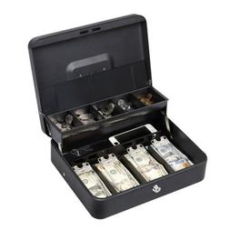 """11.8"""" Cash Box with Money Tray lock Large Steel 5 Compartmen"""