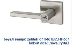 Kwikset 156HFL SQT 15 SMT 6AL Halifax Square Entry Door Lock