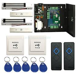 2 Door TCP/IP RFID Magnetic door access control system maglo