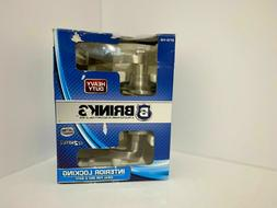 Brinks 2713-119 Wave Style Lever Door Knob with Privacy Key