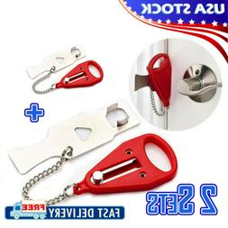 2SETS Portable Security Door Lock Hardware Safety Tool Home