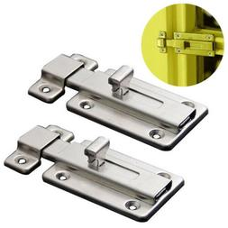 2pcs Stainless Steel Door Latch Sliding Lock Barrel Door Bol