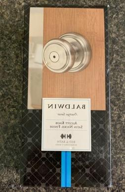 Baldwin Prestige Alcott Bed/Bath Knob in Satin Nickel