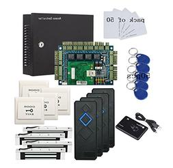 4 Doors Entry Access Control Board Kit 350lbs Electric Magne