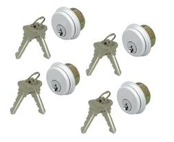 4 KEYED MORTISE LOCK CYLINDERS FOR ADAMS RITE & KAWNEER STOR