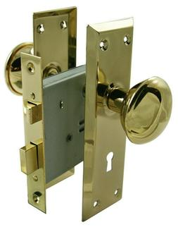 """Ultra Hardware 44609 2-1/4"""" Brass Old Time Mortise Interior"""