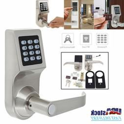 4in1 Electronic Smart Code Keyless Keypad Door Lock Home Sec