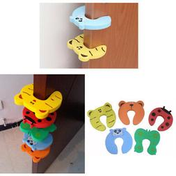 5Pcs Door Stopper Cushion Anti Finger Pinch Lock Clip Baby K