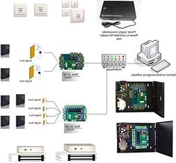 6 doors controlled entry systems