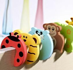 6pcs Baby Safety Door Stop Finger Pinch Guard Lock Jammer St