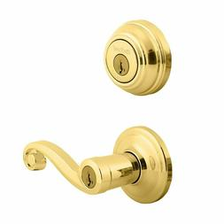 Kwikset Deadbolt Entry Signature Series Lido Polished Brass