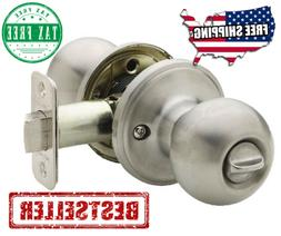 Ball Privacy Door Knob Satin Stainless Security Lock Round E