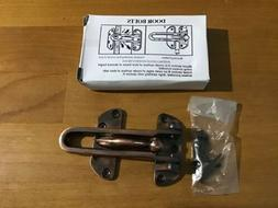 Brand New Home Bolt Lock Locking Swing-Bar Door Gate Securit