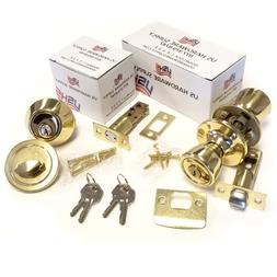 Door Knob Entry Lock and Combination Dead Bolt Combo Sets