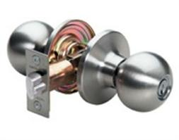 Master Lock BAO0115 Satin Nickel Ball Keyed Entry Door Knob