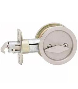 New Kwikset 335 Round Bed/Bath Privacy Pocket Door Lock Sati