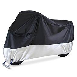 "Ohuhu Waterproof Motorcycle Cover | Fits up to 108"" Motors,"