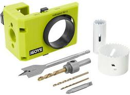 Ryobi A99DLK4 Wood and Metal Door Lock Installation Kit for