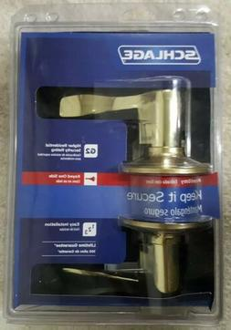Schlage Accent Bright Brass Keyed Entry Lever F51 V ACC 505