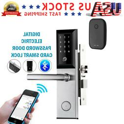 Bluetooth WiFi Remote Smart Door Lock Phone App Key Password
