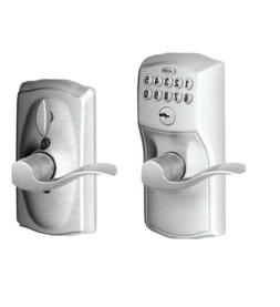 Camelot Keypad Entry with Flex-Lock and Accent Levers, Brigh