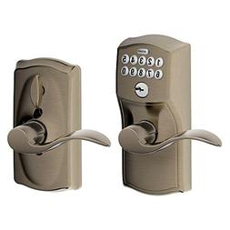 Camelot Keypad Entry with Flex-Lock and Accent Levers, Antiq