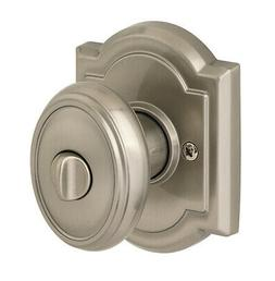 Carnaby Bed and Bath Knob - Finish: Satin Nickel