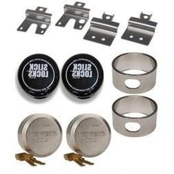Slick Locks Chevy GMC Swing Door Kit Complete with Spinners,