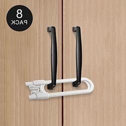 Adoric 8 Pack Child Safety Cabinet Locks, Baby Proofing U Sh