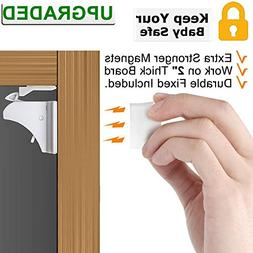 Child Safety Magnetic Cabinet Locks - VMAISI 4 Pack 3M Adhes