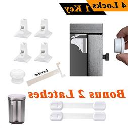 Fathers Day-4 Magnetic Locks For Cabinets + 1 Key + 2 Adjust
