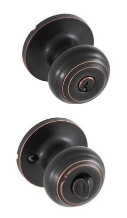 Honeywell Classic Knob Entry Door Lock, Oil Rubbed Bronze