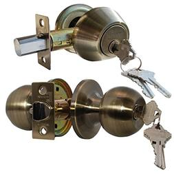 Constructor Chronos Combo Entry Door Lockset Knob Handle wit