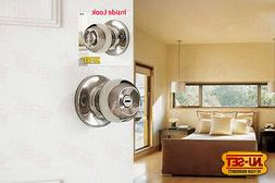 NuSet Dana  Privacy Chrome Door Lock Knob for Bedroom Bathro