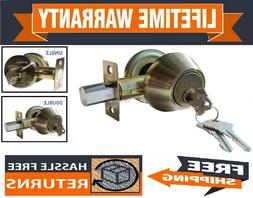 Constructor Deadbolt Door Lock Set Antique Bronze Single Dou