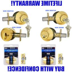 Constructor Deadbolt Door Lock Set Single Double Cylinder Po
