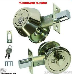 deadbolt silver single cylinder stainless steel door lock 2