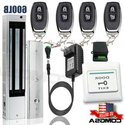 Door Access Control System, Electric Magnetic Lock 600lb, 4