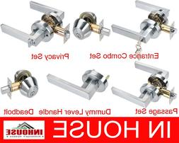 Door Handles locks Passage Privacy Entrance set Deadbolt Dum
