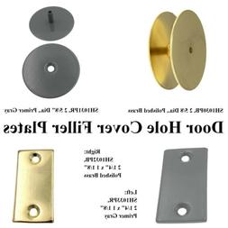 Warwick Door Knob, Lock or Latch Hole Cover Filler Plate, Br