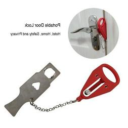 Portable Door Lock Hardware Safety Security Tool Home Privac