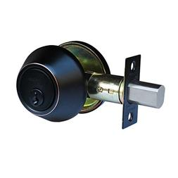 Constructor Double Cylinder Deadbolt Knob Handle Oil Rubbed