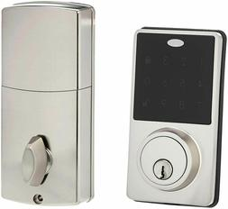 Amazon Basics Electronic Deadbolt Door Lock Classic Satin Ni