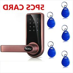 Electronic Smart Keyless Keypad Door Lock Fingerprint Touch