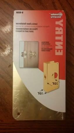 Defender Security Entry Lock And Door Reinforcer Solid Brass