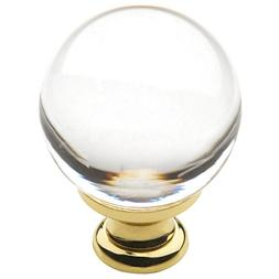 Baldwin Estate 4300.030 Smooth Crystal Cabinet Knob in Polis