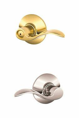 Schlage F40 ACC 605 625 Accent Bed and Bath Lever, Bright Br