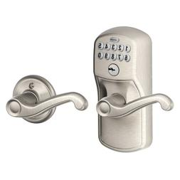 Schlage FE575 PLY 619 FLA Plymouth Keypad Entry with Auto-Lo