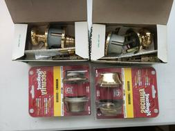 Four  Weiser/ Kwikset door lock and Deadbolt lock Lot NIB