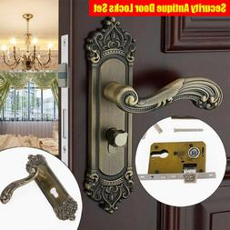 Handle Locks Set Privacy Door Security Entry Lever Mortise W